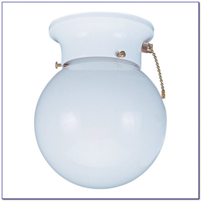 Flush Mount Ceiling Fixture With Pull Chain