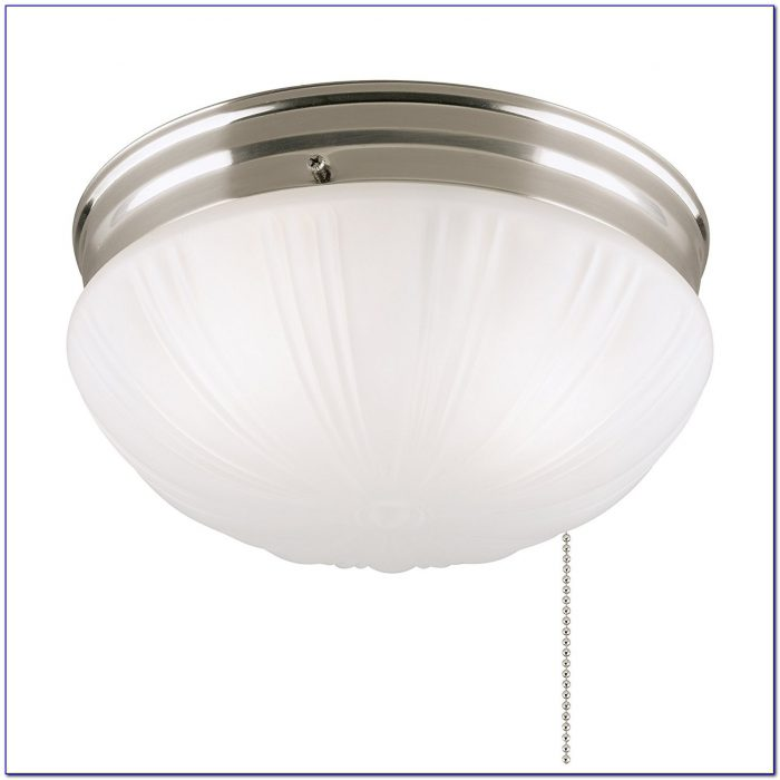 Flush Mount Ceiling Light Fixture With Pull Chain
