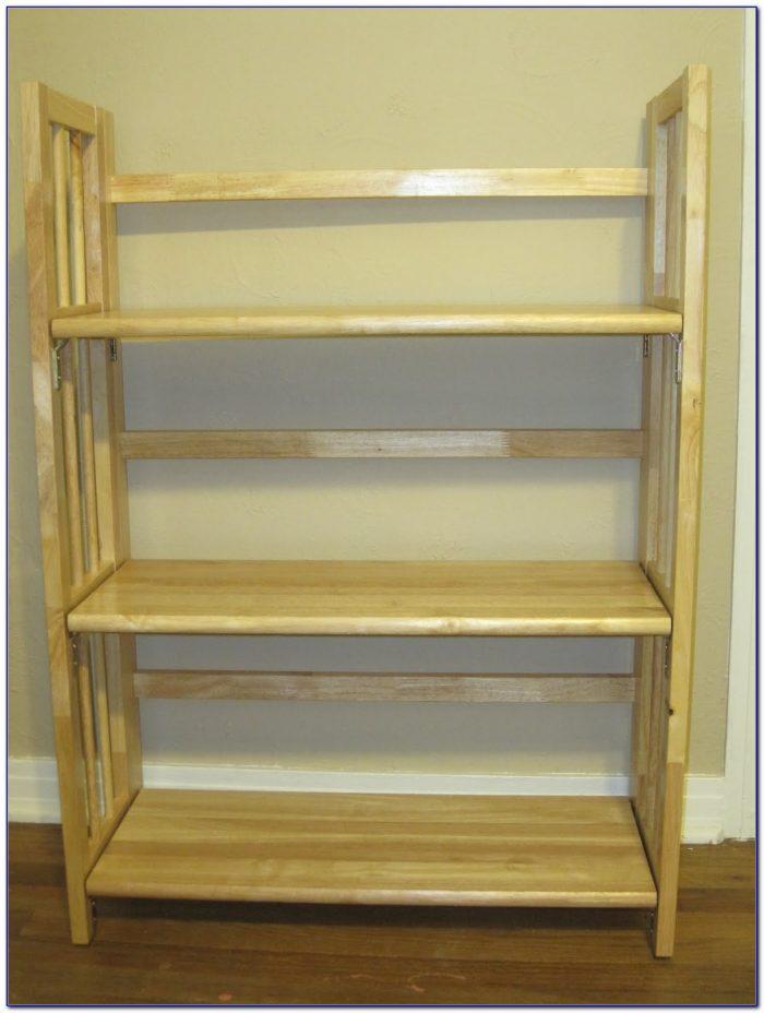 Folding Wooden Bookshelf