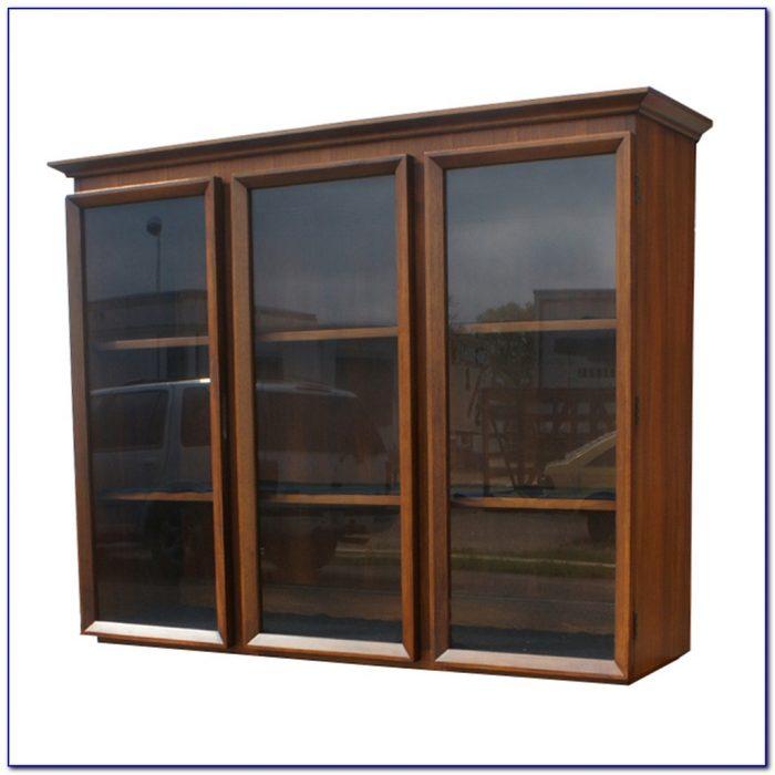 Glass Bookshelves Cabinet