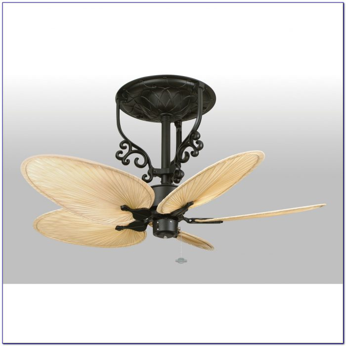 Hampton Bay Ceiling Fan With Palm Leaf Blades