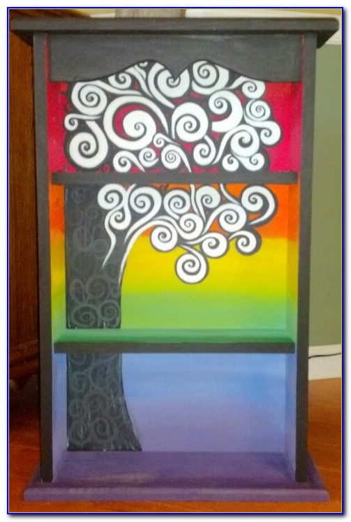 Hand Painted Bookcase Ideas
