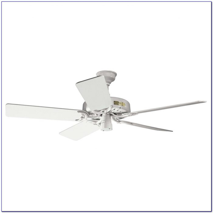 Hunter White Ceiling Fan With Light And Remote