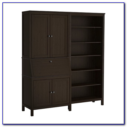 Ikea Besta Bookcase Black Brown