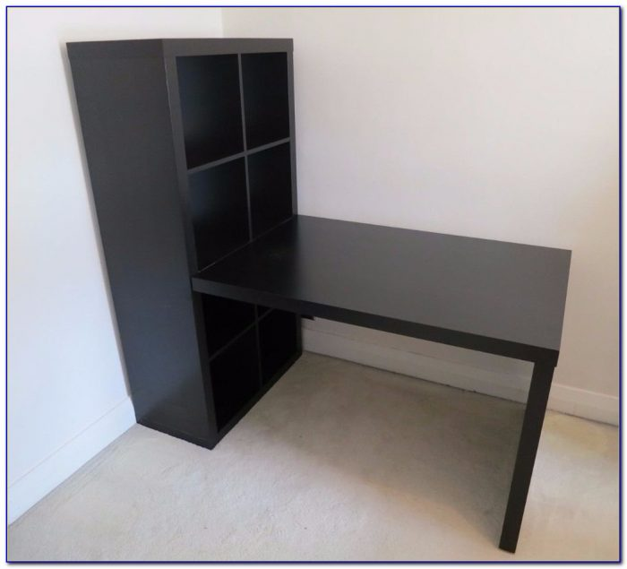 Ikea Expedit Desk And Bookcase Cube Display