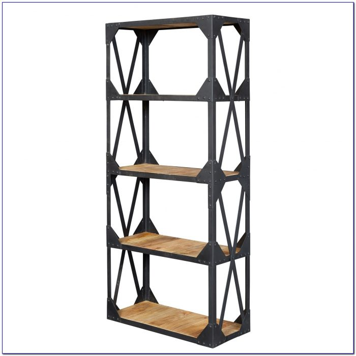 Industrial Wood Bookshelf