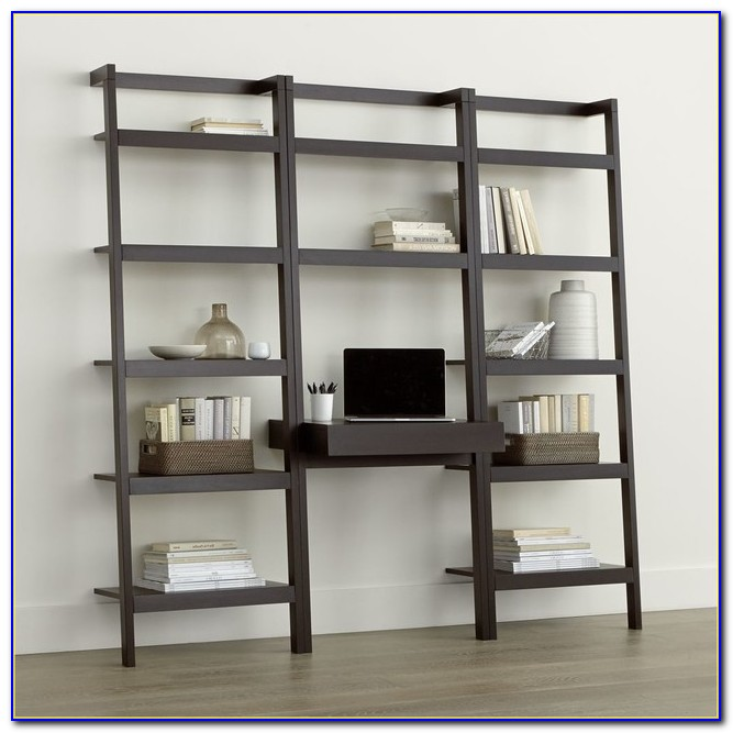 Leaning Desk And Bookcase