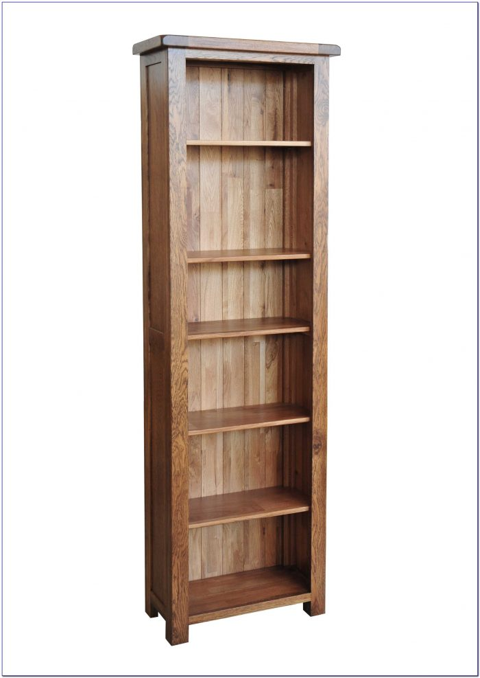 Light Oak Narrow Bookcase