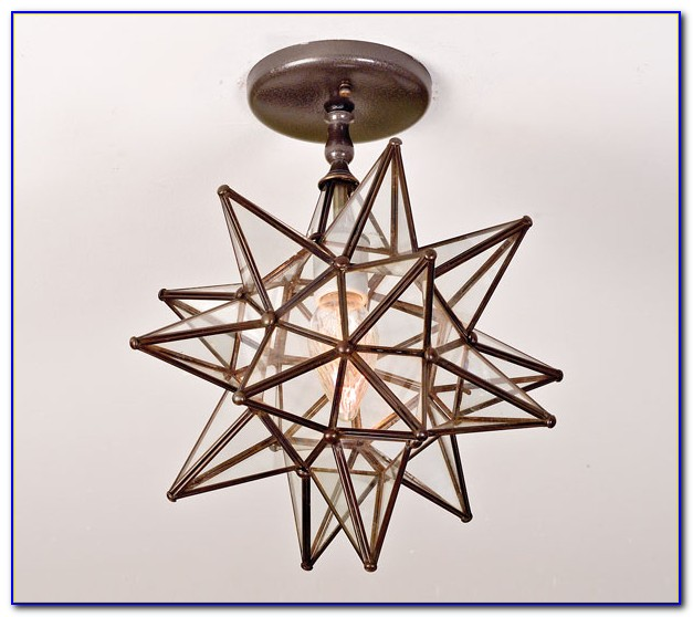 Moravian Star Ceiling Light Fixture