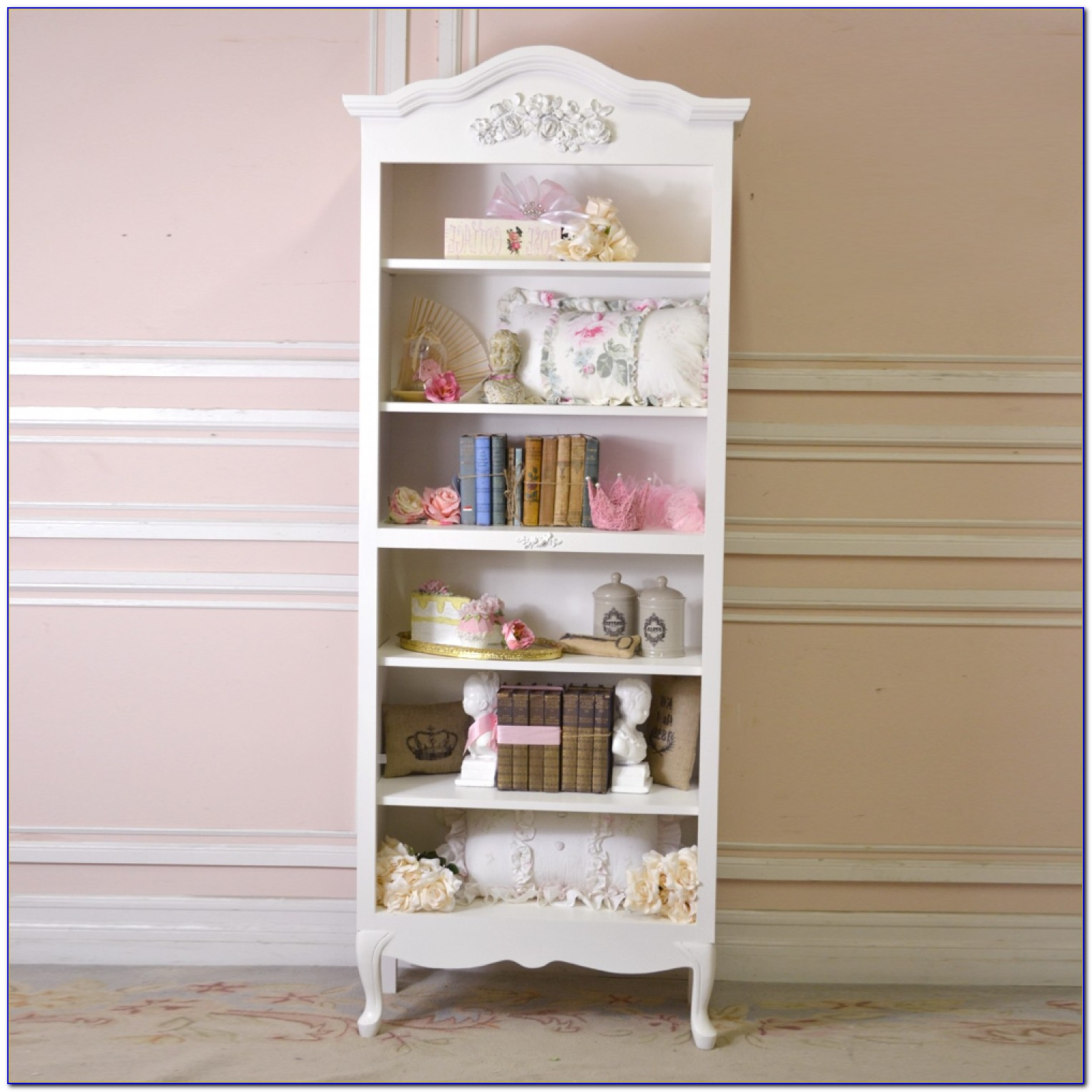 Narrow Bookcase Shabby Chic