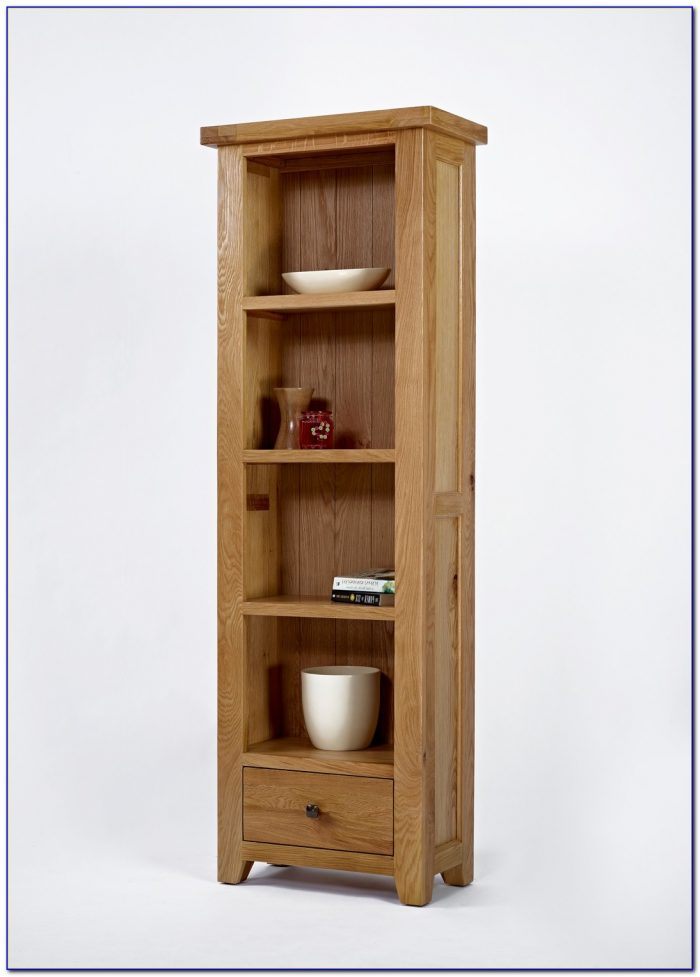 Oak Bookcase Narrow Tall