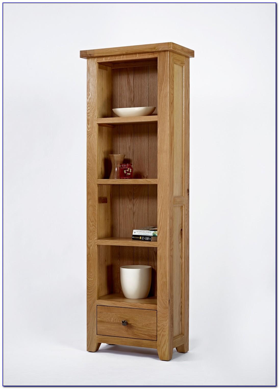 Oak Bookcase Narrow Tall