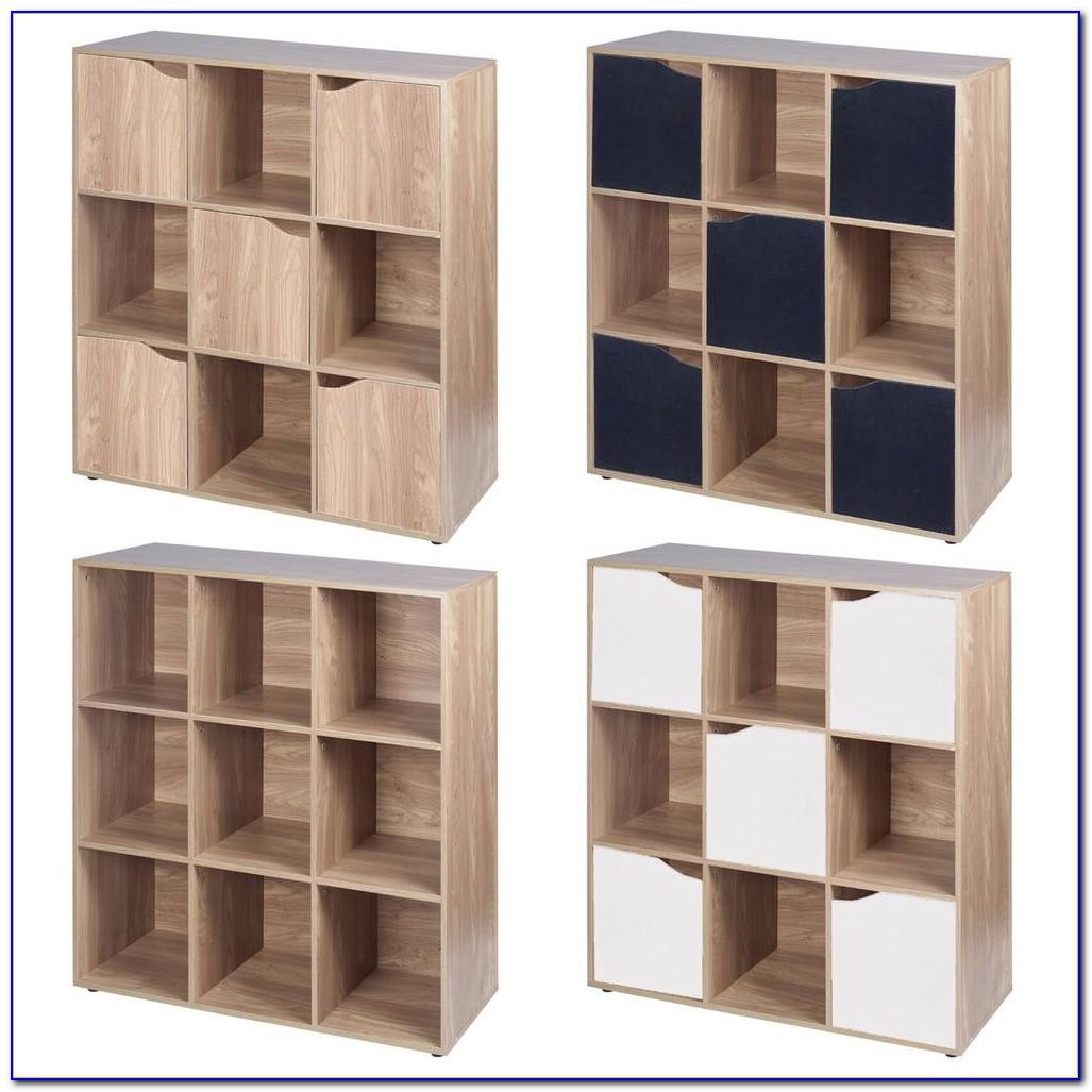 Oak Cube Bookshelf