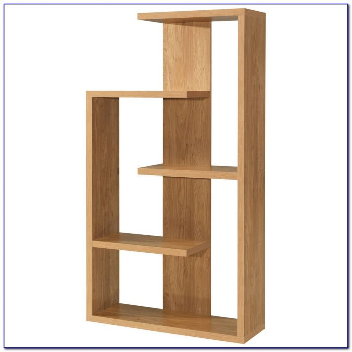 Oak Cube Bookshelves