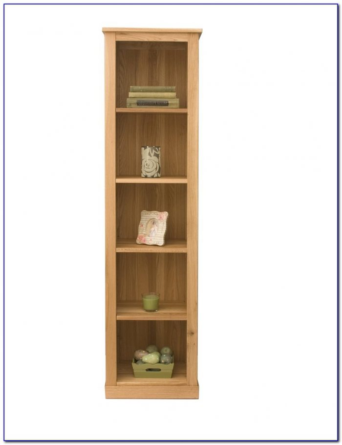 Oak Narrow Bookcase