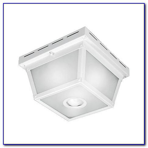 Octagonal Black Motion Sensor Outdoor Ceiling Light