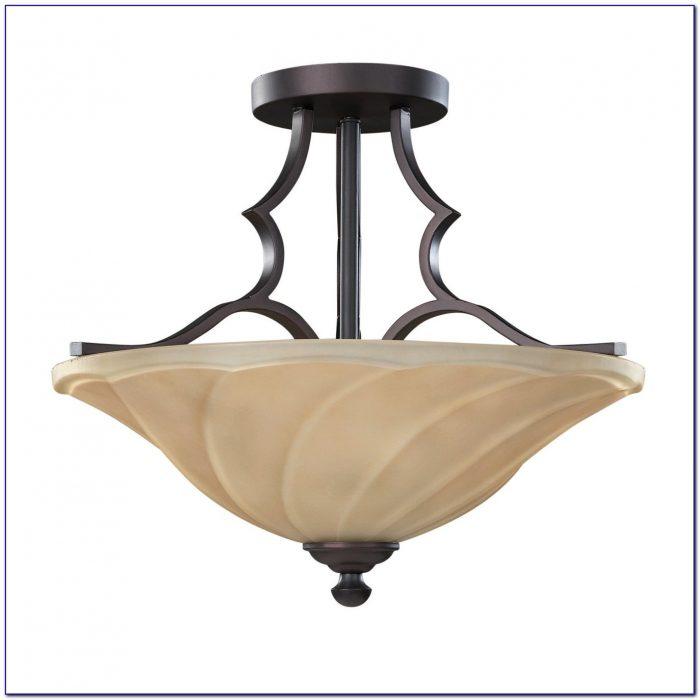 Oil Rubbed Bronze Semi Flush Ceiling Light