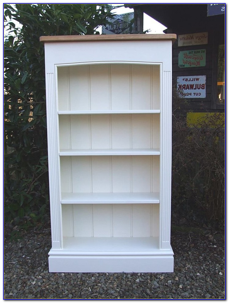 Painted Pine Bookshelves