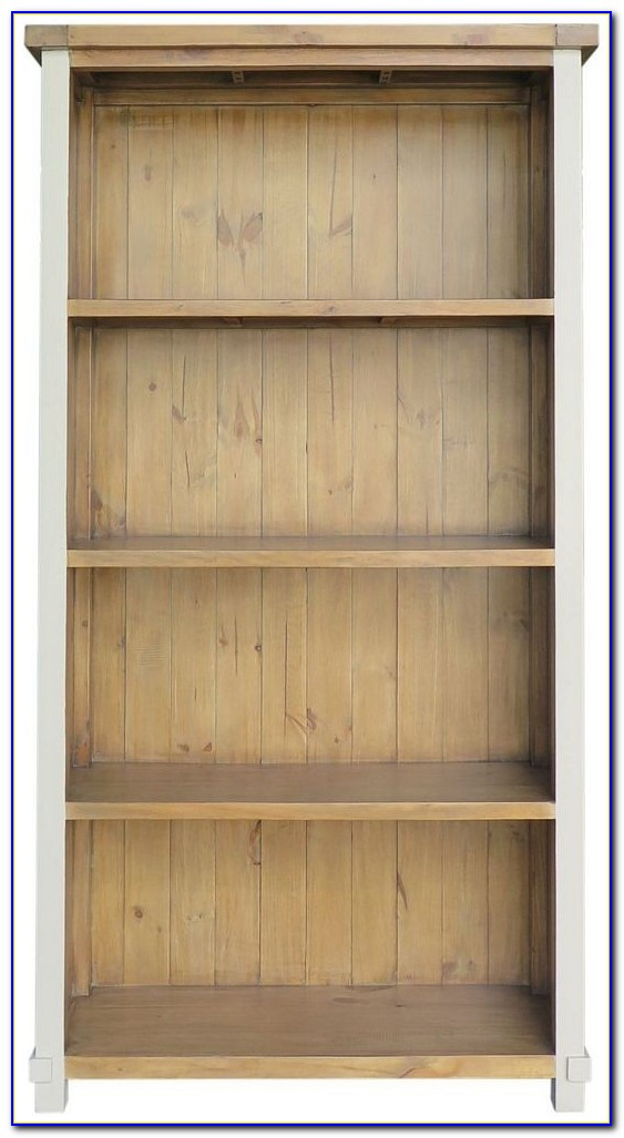 Reclaimed Pine Bookcase With Ladder