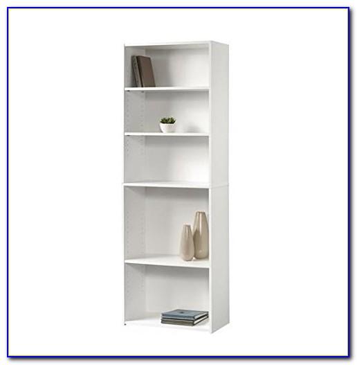 Sauder 5 Shelf Bookcase White
