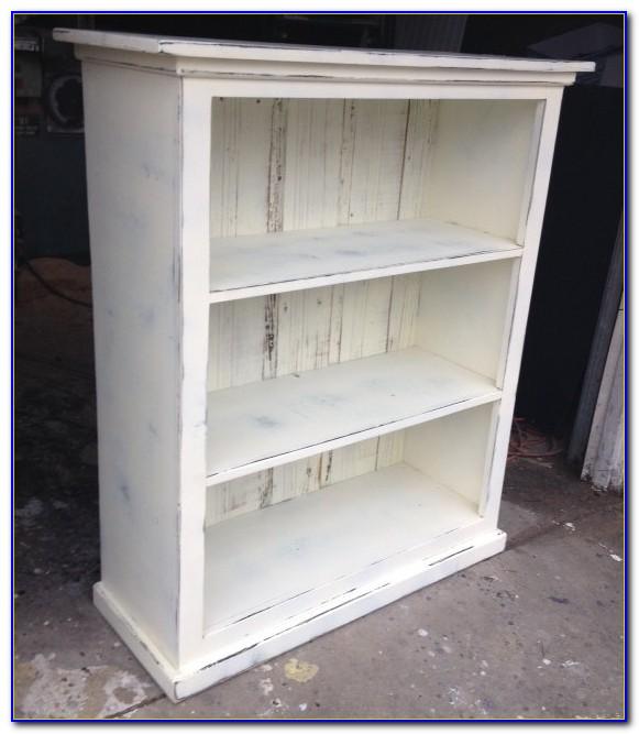 Shabby Chic White Bookshelf