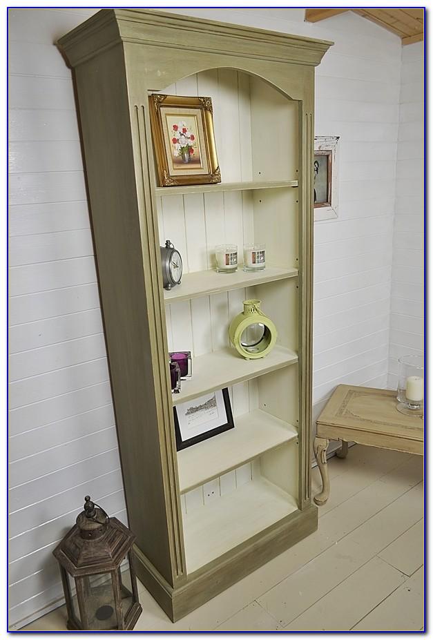 Shabby Chic White Bookshelves