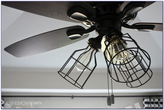 Ceiling Fan With Caged Blades Ceiling Home Design