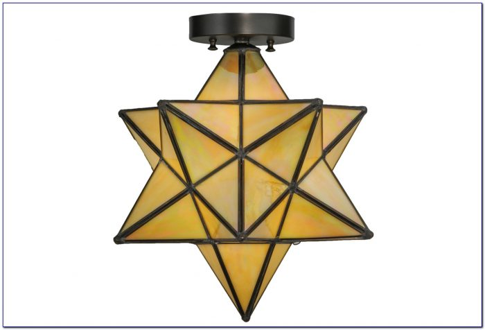 Small Moravian Star Ceiling Light