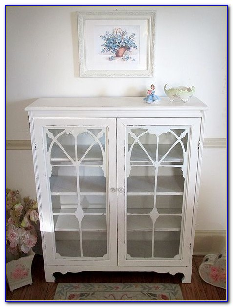 Small White Shabby Chic Bookcase