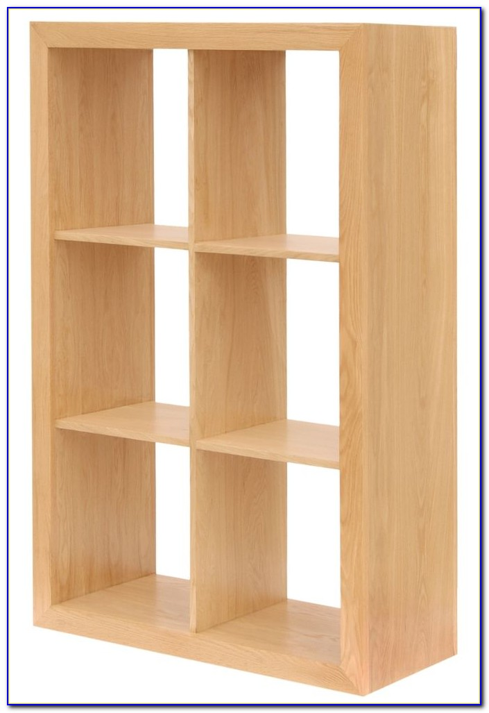 Solid Oak Cube Bookcase