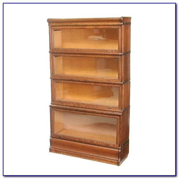 Solid Oak Lawyers Bookcase
