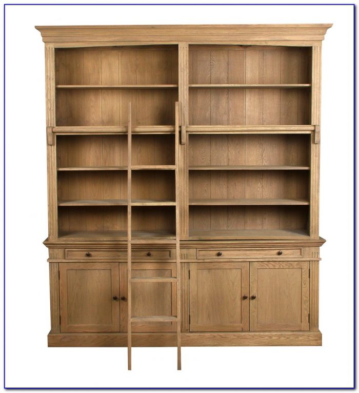 Solid Oak Library Bookcase