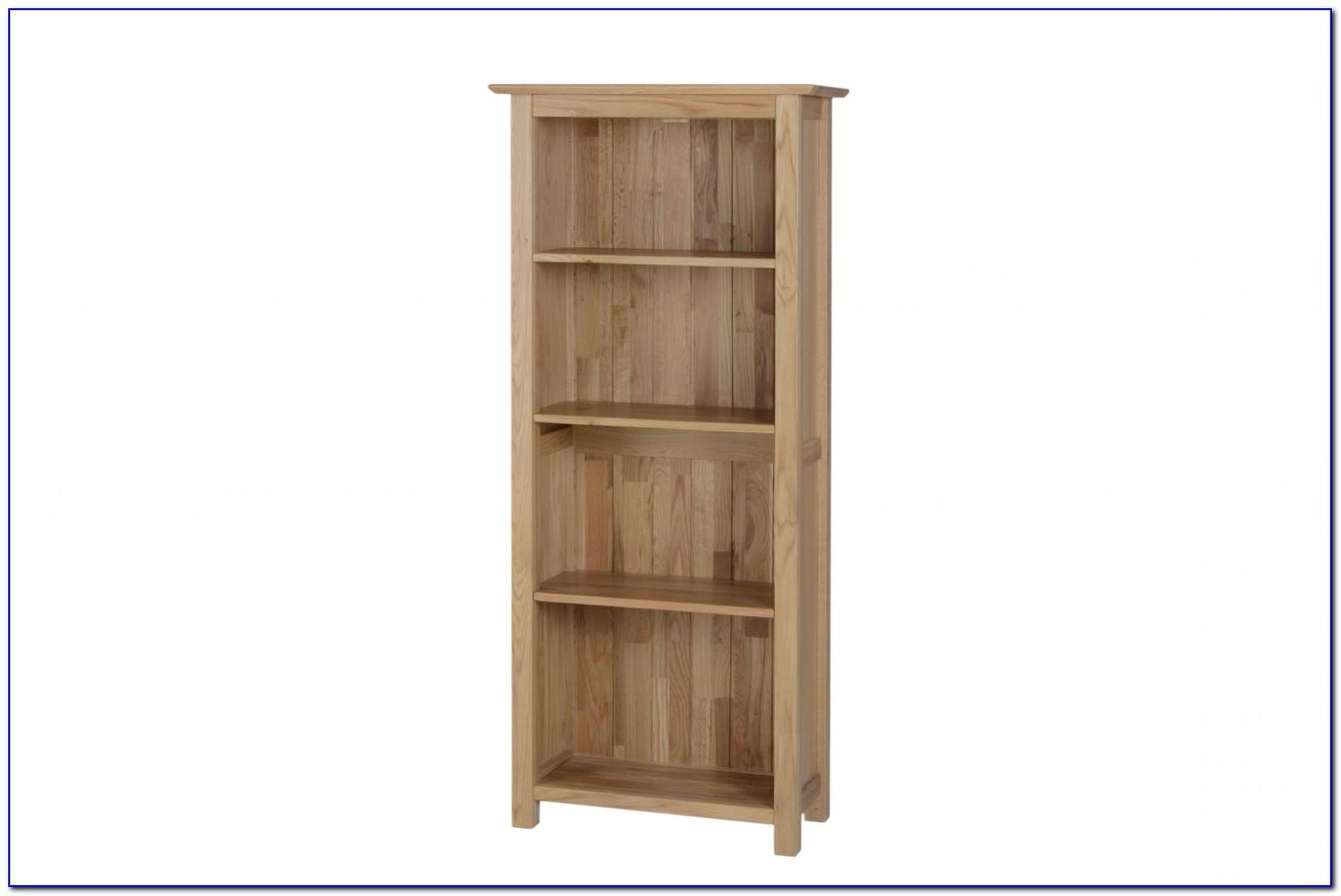 Solid Oak Narrow Bookcase