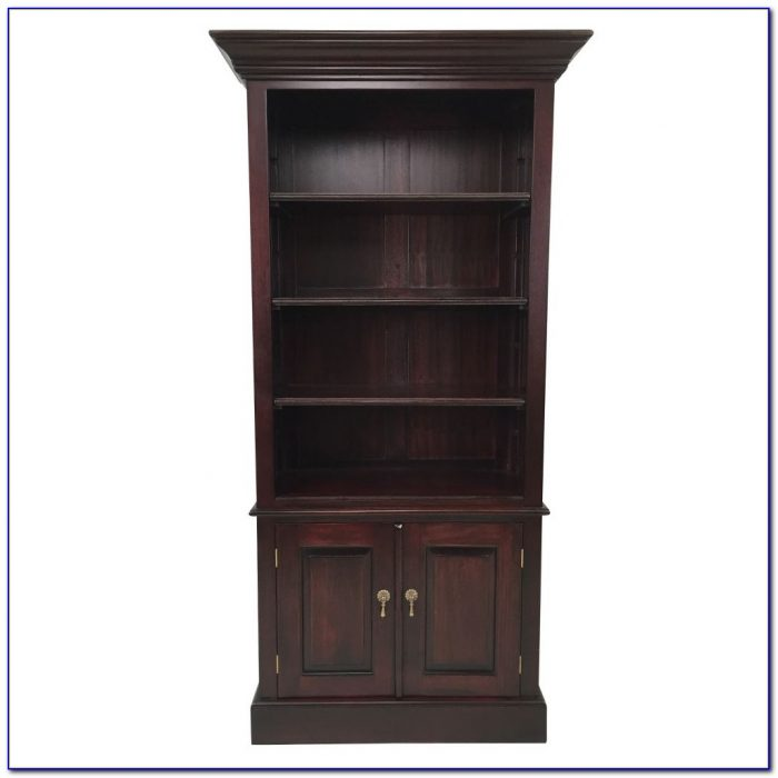 Solid Wood Mahogany Bookcase