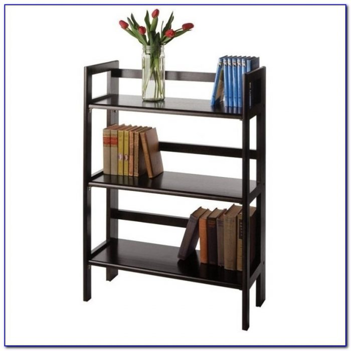 Solid Wood Stackable Folding Bookcase