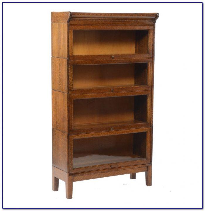 Stacked Oak Lawyers Bookcase
