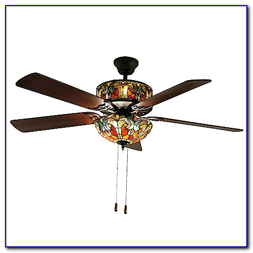 Stained Glass Ceiling Fan Light