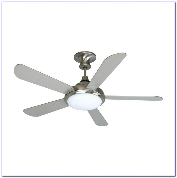 Stainless Steel Ceiling Fan With Light And Remote