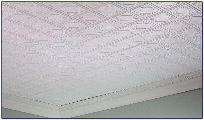Styrofoam Glue Up Ceiling Tiles