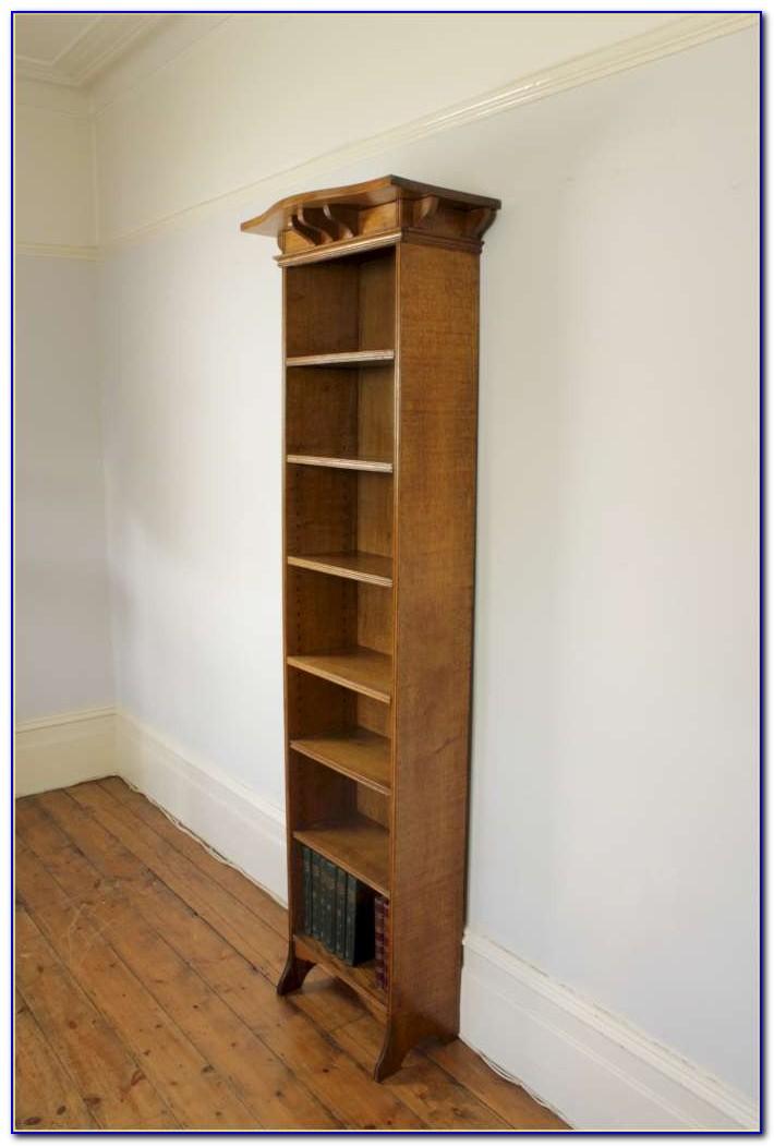 Tall Narrow Light Oak Bookcase