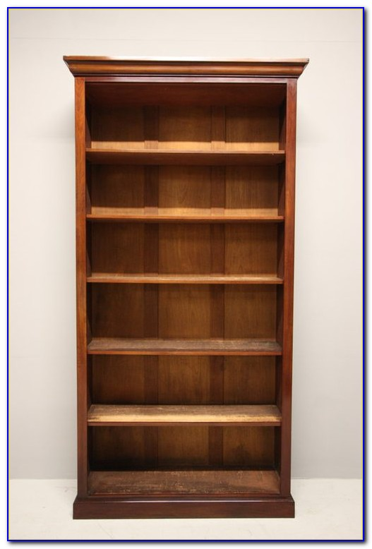 Tall Narrow Mahogany Bookcase
