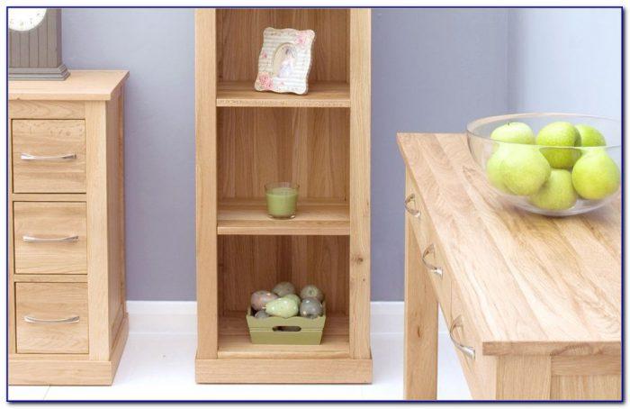 Tall Narrow Solid Oak Bookcase