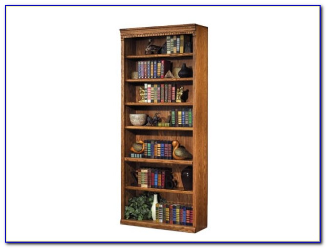 Tall Oak Veneer Bookcase