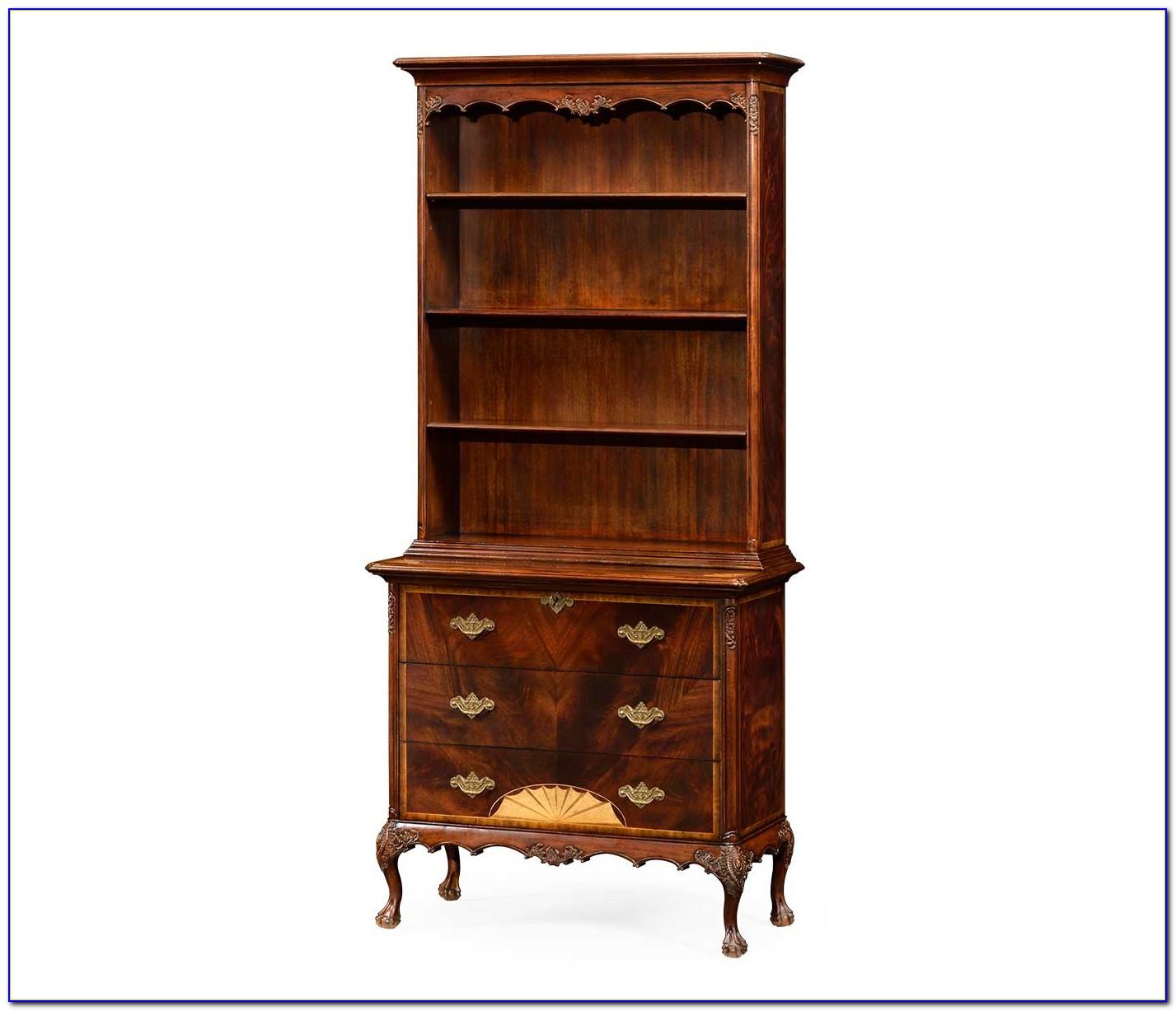 Tall Slim Mahogany Bookcase