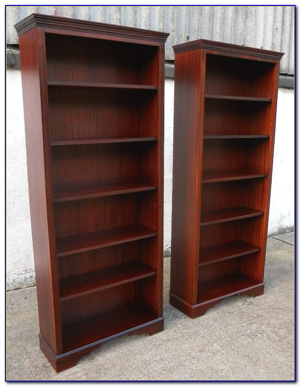 Tall Wide Mahogany Bookcase