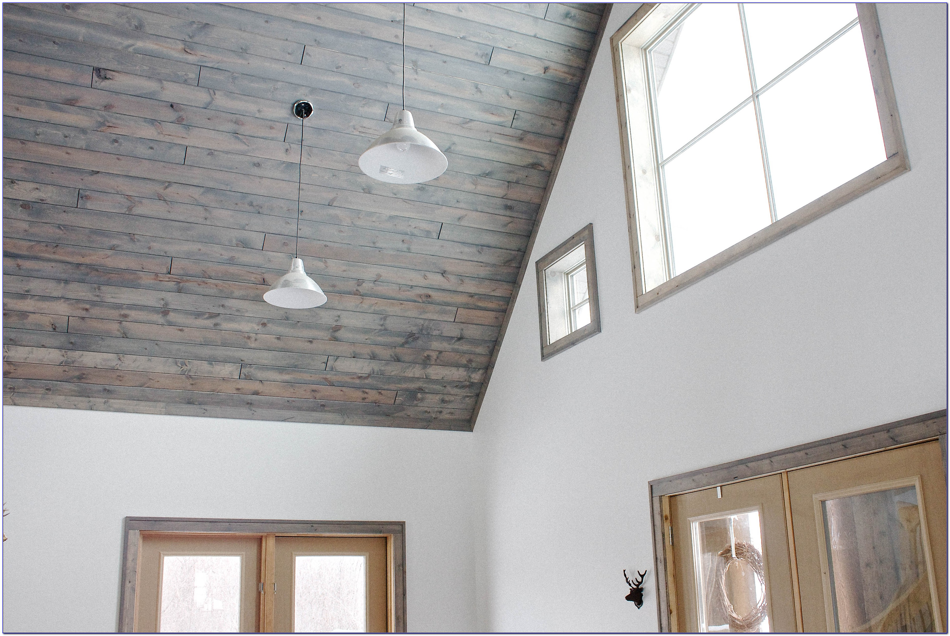 Tongue And Groove Ceiling Planks White Ceiling Home