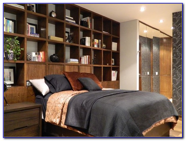 Use Bookcase As Headboard