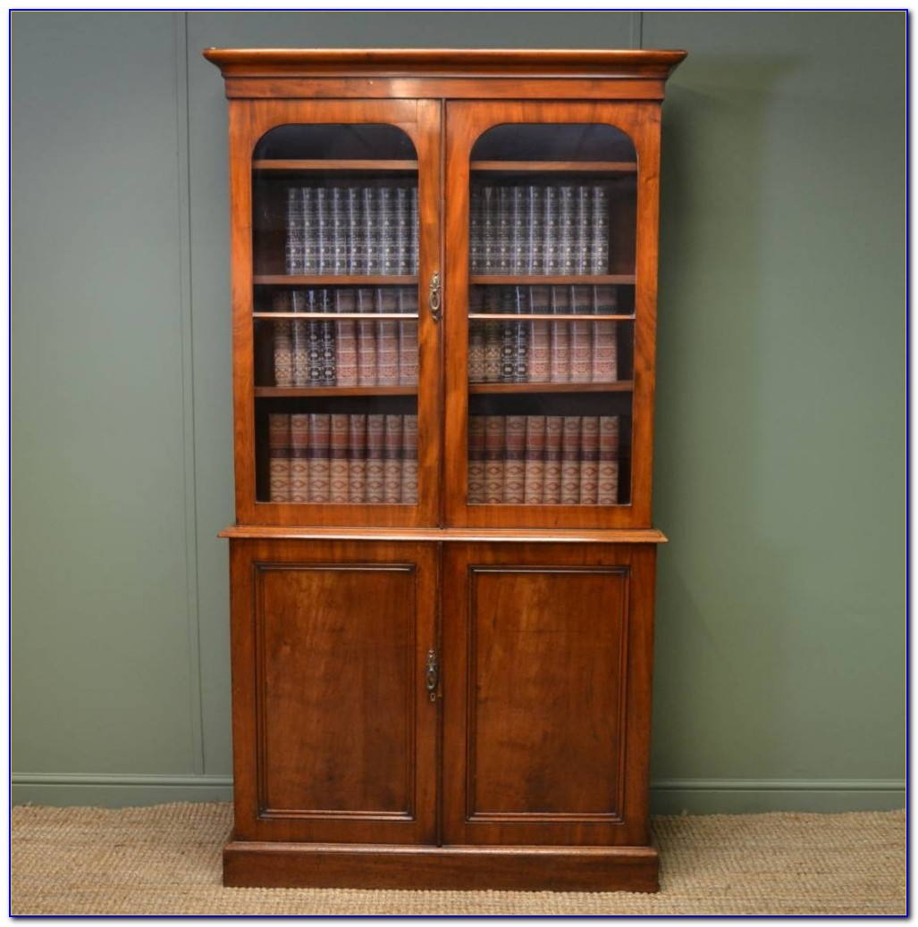 Victorian Mahogany Bureau Bookcase