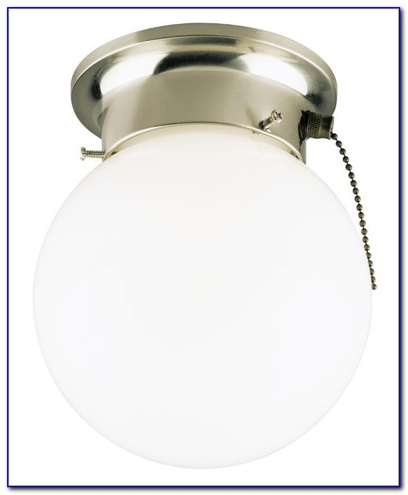 Westinghouse Flush Mount Ceiling Light Fixture With Pull Chain
