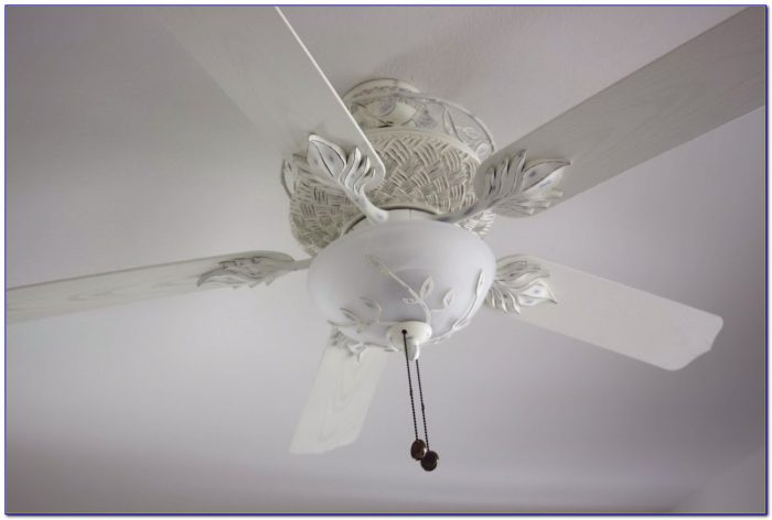 White Shabby Chic Ceiling Fan